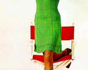 Sexy Sixties Green Raglan Sleeve Knit Dress Pattern Vintage Bust Sizes 34-42 Inches Instant Download Digital 1950's e-Pattern Download