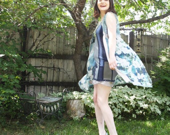 eco friendly, sustainable fashion,  day coat . fall into the sky . XS - S