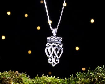 Sterling Silver Scottish Luckenbooth - (Pendant or Necklace)