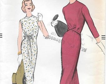 Vogue 9382 UNCUT 1950s Chemise Dress Vintage Sewing Pattern Size 14 Bust 32 Sleeveless Dress Very Easy to Make