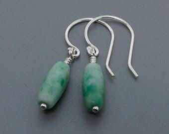 Sterling Silver Jasper Dangle Earrings • Gemstone Earrings • Drop Earrings • Boho Earrings • Bohemian Jewelry Gift for Her