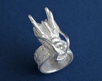 Dragon Ring For Men Sterling Silver Dragon Ring Asian Dragon Oriental Dragon Jewelry