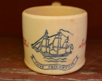 Vintage Hull Pottery Old Spice Shaving Mug 03 Made In USA 1944-1950