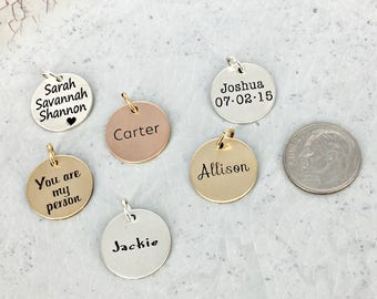 Personalized name charm • Name Charm • Personalized Charm • Gold filled personalized charm • Gold-filled, Sterling silver, or Rose GF