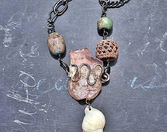 Desert, Shore and Forest Assemblage Necklace