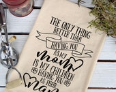 Flour Sack Towel, Sayings Dish Towel, Flour Sack Dish Towel, Cotton Dish Towel, Tea Towels Flour Sack, Tea Towels, Mother's Day Gift, Nana