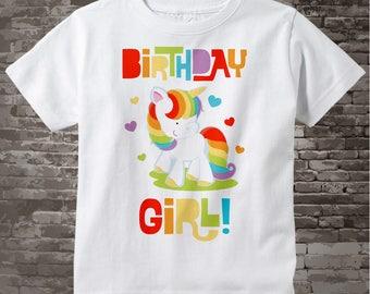 Birthday Girl Unicorn Birthday Shirt, Girl's Birthday Shirt, Rainbow Unicorn Birthday Theme 01162014f