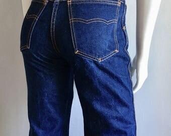 Vintage Women's 80's Brittania Jeans, Blue, High Waisted, Straight Leg, Long, Denim (S)