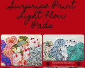 Surprise Print Cloth Light Flow Pad with Wings, Menstrual Pads, Reusable Cloth, Cotton