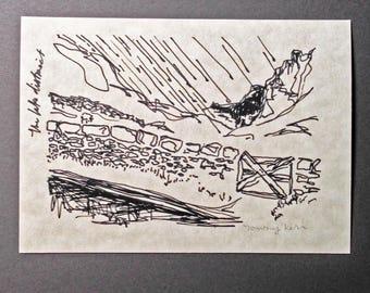 sketchbook print - Lake District 5x7 digital print