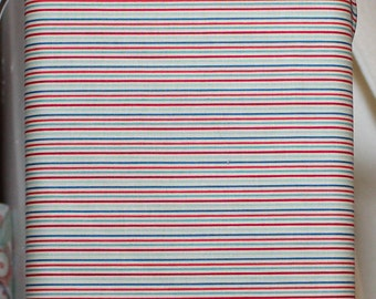 Fabric by Riley Blake Designs: Rocket Age Red Stripe