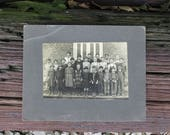 Vintage Black and White Photograph Victorian School Photo on Mat Board BNW