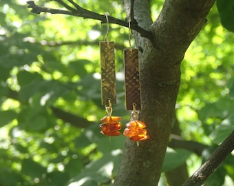 NuGold with Amber earrings