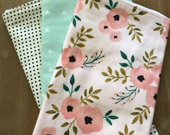 Spring Floral Burp Cloth
