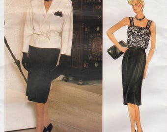 Vogue Paris Original 1529 / Vintage Designer Sewing Pattern By Guy Laroche / Skirt Jacket Camisole Suit / Size 10