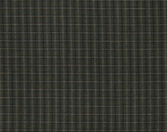 Green Plaid Yarn Dye 100% Cotton Quilt Fabric for Sale, Kim Diehl's Helping Hands Yarn Dyes Collection, HEG6886Y-66