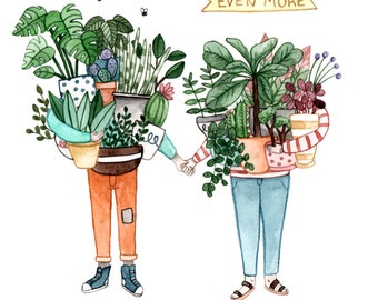 Like You More Than Plants Card