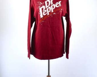 Vintage Dr. Pepper Thermal Top, Size Large