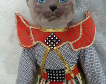 "Porcelain King Meow Pet Personalities 14 "" Porcelain Doll by Heritage Mint 1994"