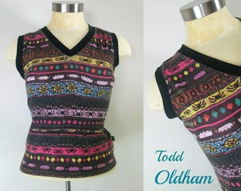 1990s Todd Oldham Tank Tee Shirt Top Goth Grunge Size S/M