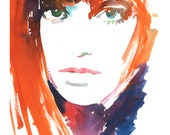 Jane Birkin Fashion Illustration Print, Fashion Wall Art, Fashion sketch, Watercolor Painting, Fashion Illustration, 60s fashion sketch