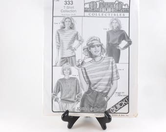 Stretch and Sew T-Shirt Collection Sewing Pattern 333 Uncut Ann Person Collectibles 1990