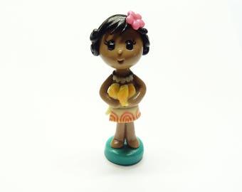 Baby Moana Cake Topper, Cold Porcelain Clay Princess Moana Figurine, Toddler Girl Cake Topper, Baby Girl Cake Topper, Keepsake, Gift