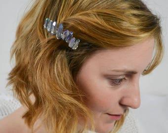 Bridal Haircomb Crystal Quarz