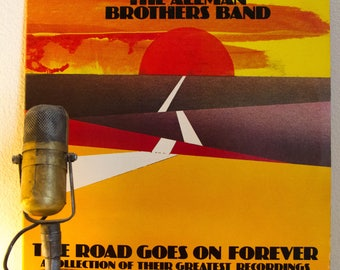 """ON SALE Allman Brothers Band (with Gregg Allman/Duane Allman) Vinyl Record LP 1970s Southern Classic Rock """"The Road Goes On Forever"""" (1975 C"""