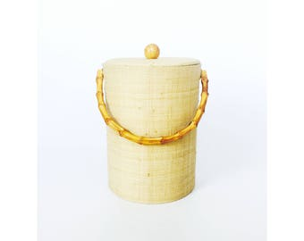 Vintage Bamboo Ice Bucket