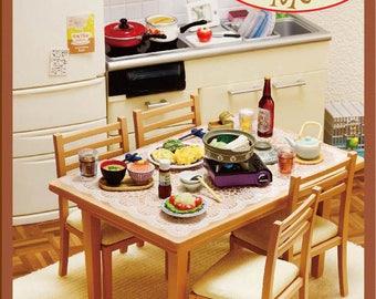 Claydough&Me COMPLETE SET Re-ment Miniatures Dining Room and Kitchen Set/Re-ment Dining Room/Miniature Dining Room/Doolhouse dining room