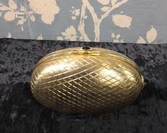 Vintage 1960's gold clutch