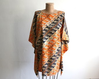 Wax Cotton Bold Print Tunic