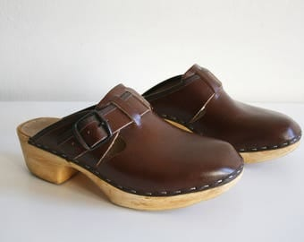 Brown Toffeln Clogs 39