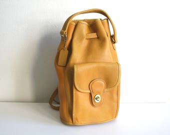 Golden Yellow Coach Backpack