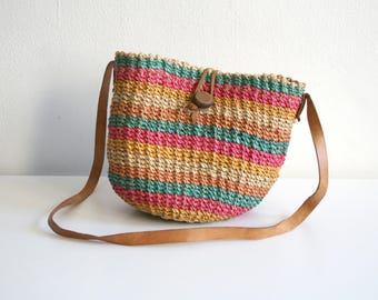 Small Striped Sisal Bag