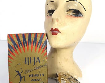 Vintage Hi-Ja Beauty Soap Unused Original Box RARE 1920s Vanity Boudoir Advertising
