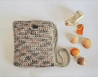 Crossbody cotton bag, shoulder cotton purse, boho bag purse Shoulder summer bag