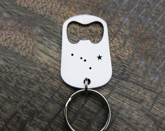Constellation Beer Bottle Opener Christmas Gift for Friend Custom Gift Personalized Keychain Gift for Him Gift for Her Beer Lover 4