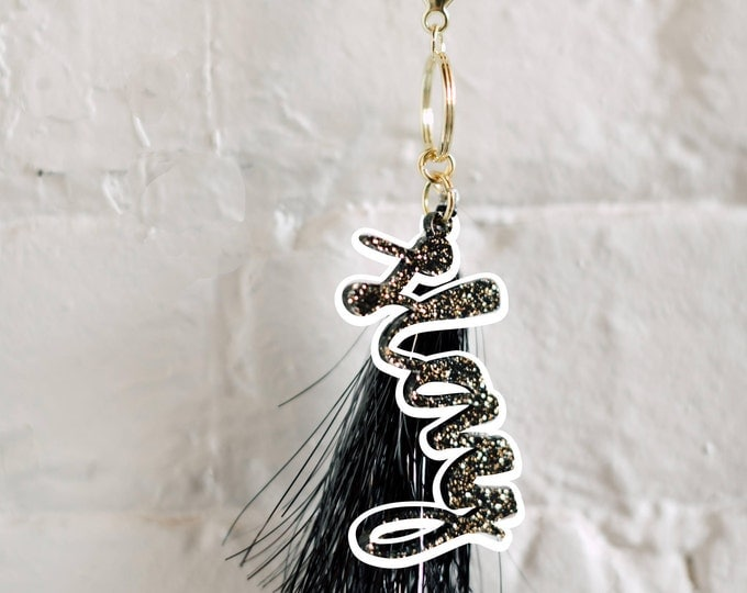 Slay Keychain, 1 CT with Gold Key Lobster Claw Clasps and Key Ring