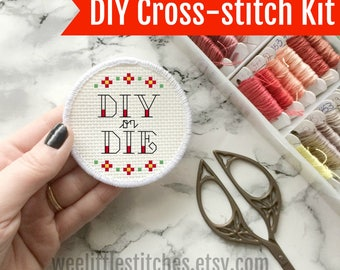 Stitchable Patches - DIY or DIE patch KIT - cross stitch patch kit