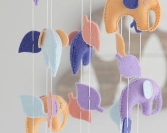 Elephant Baby Mobile- U Pick Colors