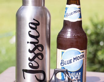 Personalized Beer Bottle Keeper - Stainless Bottle Holder - Gifts for Her - Gifts For Him - Wedding Party Gifts - Bridesmaid Gifts