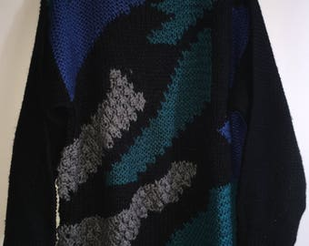 Vintage Men's Cable Knit Sweater By LLSport Size Large 100% Acrylic RN#43265