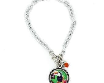 Toucan Toggle Charm Bracelet