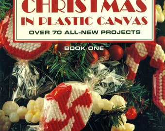 CHRISTMAS In PLASTIC CANVAS Book One 70 Projects Leisure Arts #1478