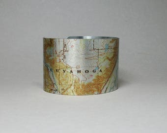 Cuyahoga Valley National Park Ohio Cuff Bracelet Unique Gift for Men or Women