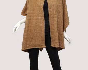 Brown checkered cape (one size fits most)