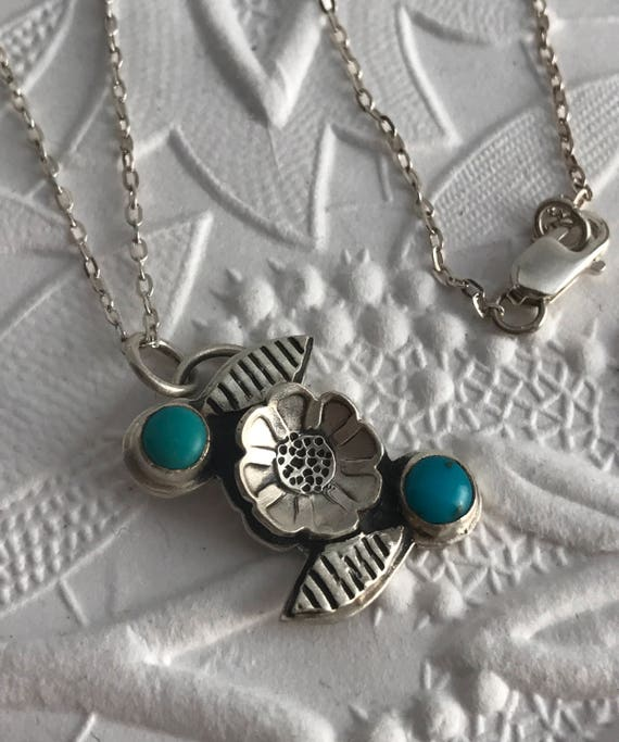 Flower with Turquoise