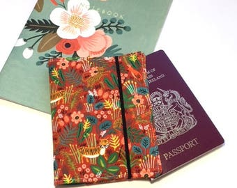 Passport Cover Rifle Paper Co, Travel Organizer, Travel Wallet, Passport Holder, Passport Wallet, Gift for Traveler - Jungle Red Tiger